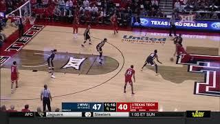 West Virginia vs Texas Tech Men's Basketball Highlights