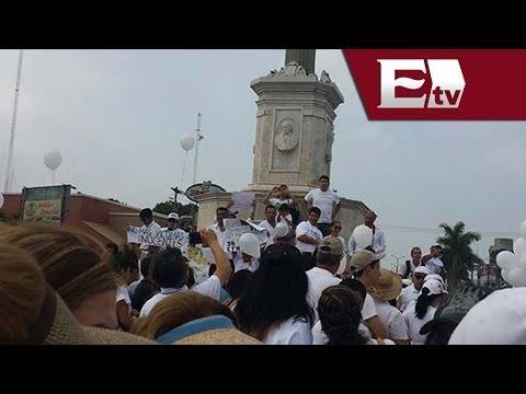 Habitantes de Tampico marchan por la paz / Excélsior Informa