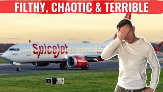 Review: SPICEJET 737 - FILTHY, CHAOTIC, TERRIBLE!