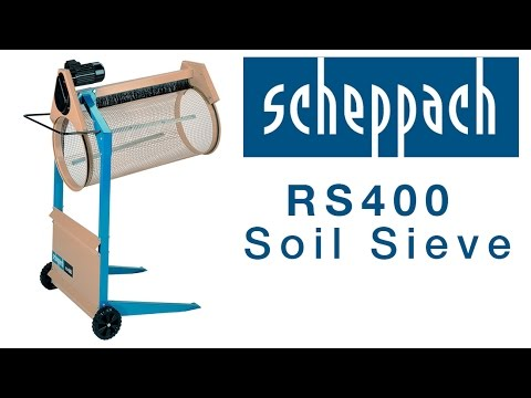 scheppach rs400 rotary sieve overview youtube