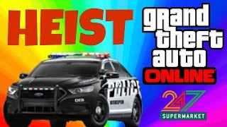 GTA V Online - MY FIRST HEIST! - GTA 5 Funny Moments 'Heists' Online Gameplay #Part 3