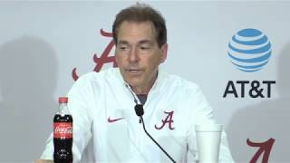 Nick Saban Press Conference following win over LSU