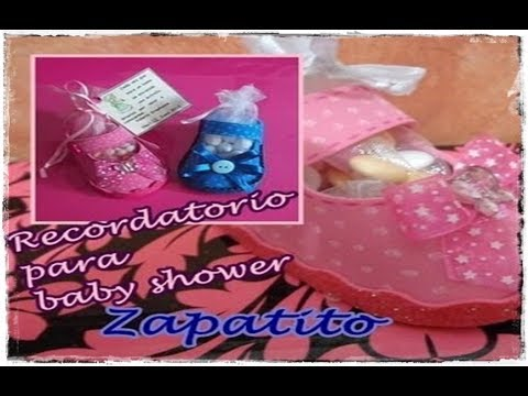 Recordatorio para beby shower (zapatito)/Reminder for baby shower (shoe)