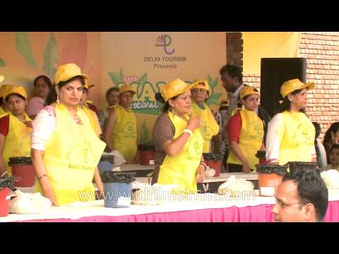 Mango eating competition in 25th International mango festival