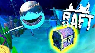 SECRET Deep Water TREASURE! - Raft Gameplay