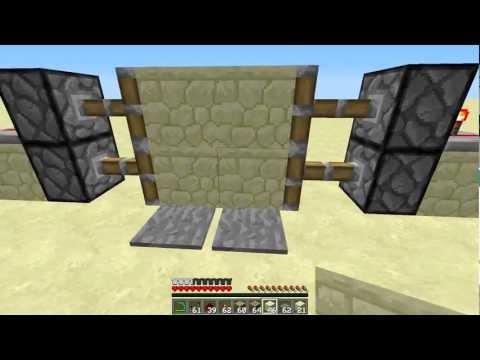 Minecraft Redstone Ep1 Piston Dvere.