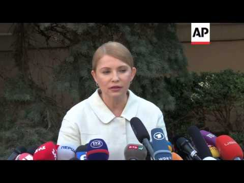 Ex-Ukrainian PM Tymoshenko announces she will run in presidential elections