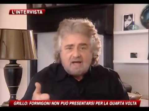 Intervista Beppe Grillo sky tg 24 Maria Latella  parte 4/4