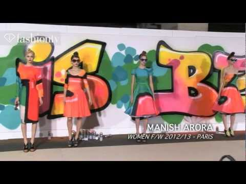 Manish Arora Fall 2012: Graffiti Prints on Feminine Silhouettes - Paris Fashion Week PFW | FashionTV
