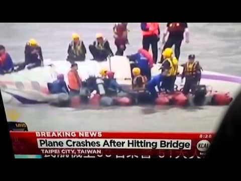 BREAKING NEWS TRANSASIA PLANE CRASH CLIPPING BRIDGE 53 PEOPLE TAIPEI CITY TAIWAN 720p HD 2 3 2015