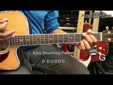 LITTLE WING For Dummies Jimi Hendrix EASY ACOUSTIC GUITAR Lesson EricBlackmonMusicHD YouTube