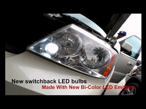 All New Bi-Color LED switchback turn signal light bulbs