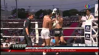 Chanajon PKSaenchaimuaythaigym vs Saiyok Pumpanmuang 6th April 2014