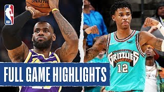 LAKERS at GRIZZLIES | FULL GAME HIGHLIGHTS | November 23, 2019