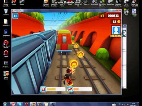 Взлом Subway Surf на компьютере. Как взломать игру Subway Surfers на деньг