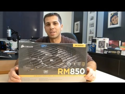 Corsair RM 850 Sillent Power Supply Unboxing and Overview