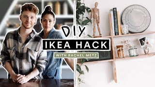 DIY IKEA HACK Wooden Minimal Shelf with Rachel Metz!!! // Lone Fox