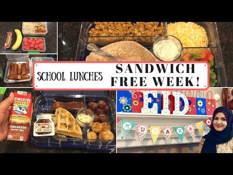 School Lunch Ideas | Week 2 | Week of School Lunches | August 2017