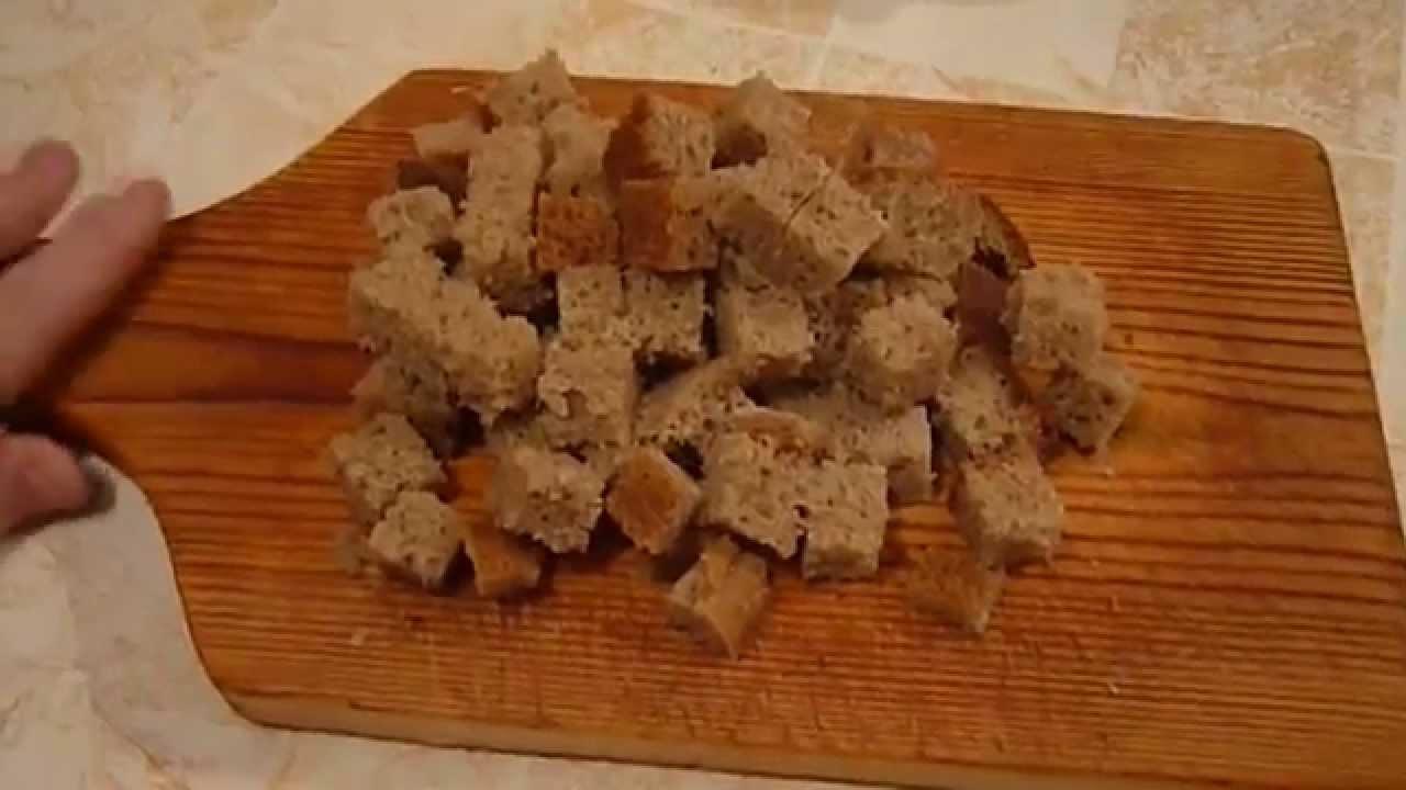Рецепт домашних сухариков с чесноком на сковороде рецепт 95