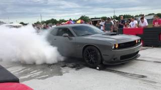 Massive Dodge Challenger Scat Pack Burnout
