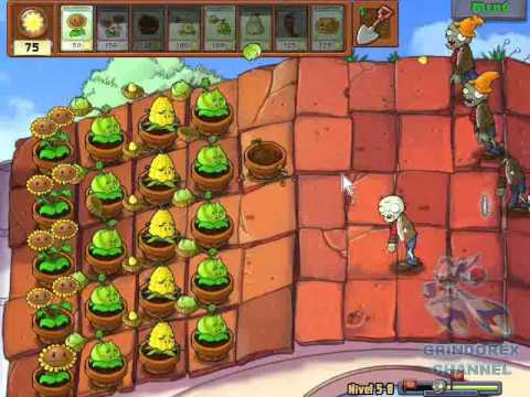 Plantas vs Zombies - Level 5-8 (Español)