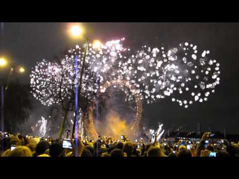 Fireworks In London 2012!!! Happy New Year Guys Xxx video