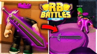 How To Unlock SABRINA'S SWORD OF HEALING! (RB Battles Sword) | Roblox Piggy