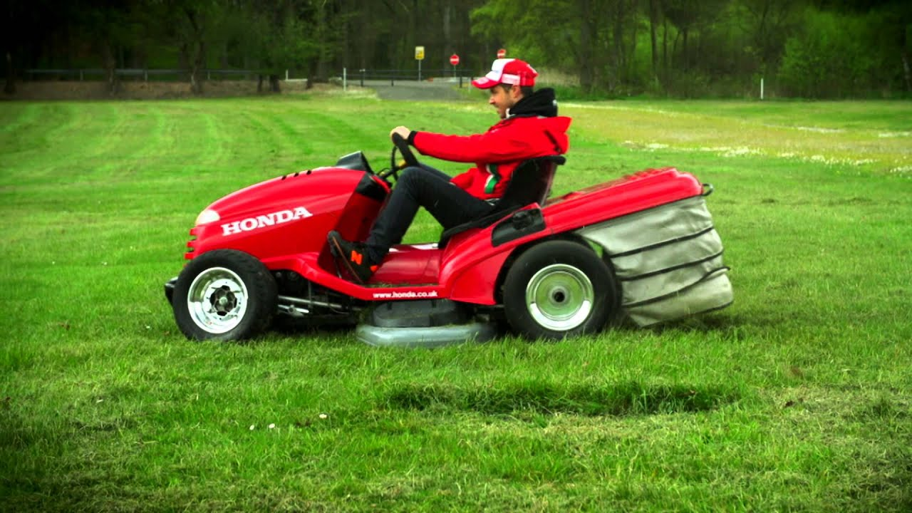 Ride On Mower >> Honda's Mean Mower takes on the legendary Eau Rouge corner at Spa - YouTube
