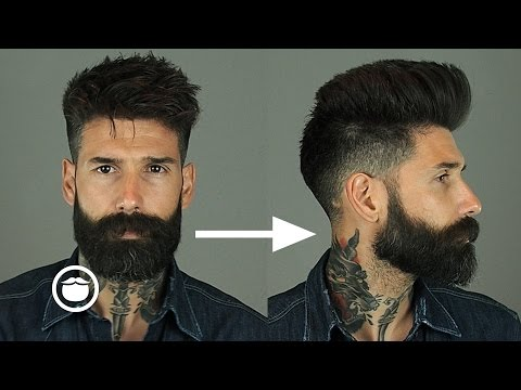 How To Style Natural Pompadour With Skin Fade | Carlos Costa