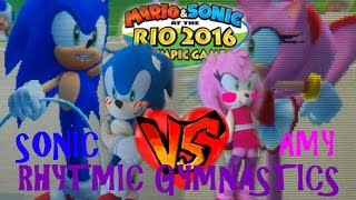 Mario & Sonic at the Rio 2016 Olympic Games Gameplay: Sonic VS Amy!!! Rhythmic Gymnastics!!!!