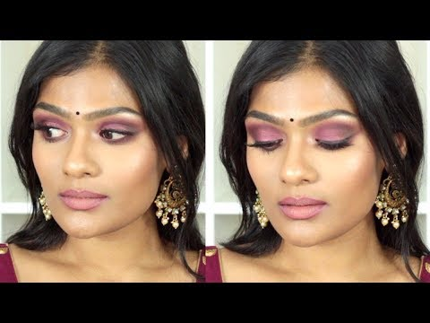 Cranberry Smokey Eye | Indian Sangeeth/Mehendi Makeup Look | Nishitha Vunnam