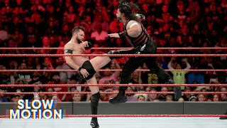 Fantastic slow-motion video of Roman Reigns vs. Finn Bálor on Raw: Exclusive, May 16, 2017
