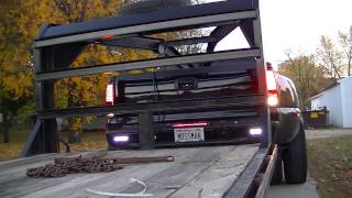 "2002 Duramax 3500 with a Gooseneck Trailer ""Darth Dually"""