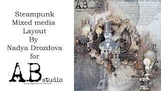 Steampunk Layout by Nadya Drozdova with AB Studio products