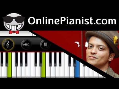 Bruno Mars - Treasure (Unorthodox Jukebox album) - Piano Tutorial