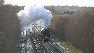 46233 on 1z86 and 1z87 Winter CME Penrith & Carlisle 31-01-15