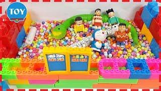 Đồ chơi Doremon - Nobita xây nhà cho 2 con rắn bằng đồ chơi lắp ráp 95 mảnh ghép