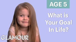 70 People Ages 5-75 Answer One Question: What's Your Goal In Life? | Glamour