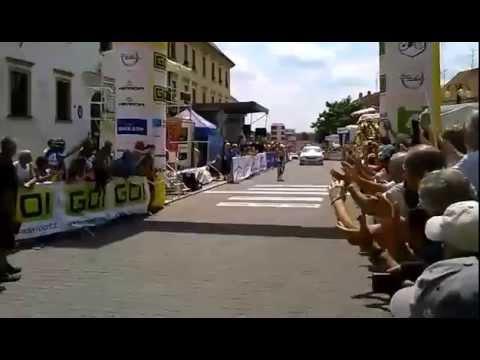 Mistrovství České a Slovenské republiky v silniční cyklistice 2014 - Martina Sáblíková - cíl
