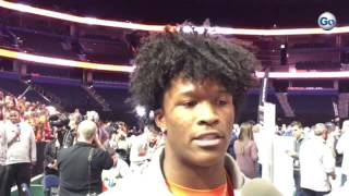Clemson WR Ray-Ray McCloud on revenge and 2nd odd question at CFP media day #GateHouseCFP