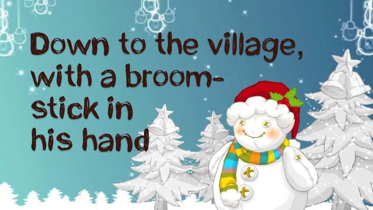 Frosty The Snowman Lyrics (HD) - YouTube