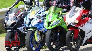 GSXR 1000 vs S1000RR vs ZX10R vs Panigale 1299 vs GSXR 600 vs ZX6R vs FZ1000 vs S1000R   Drag Races