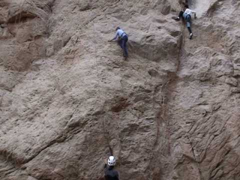 Rock climbing in Egypt - 001