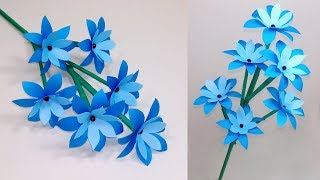 How to Make Very Beautiful Paper Stick Flower!! Stick Flower: Handcraft | Jarine's Crafty Creation