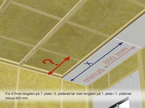 Montere veggplater på betong