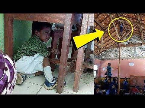 6 Polah Lucu Bocah saat Imunisasi MR, Saking Takutnya Sembunyi di Bawah Meja hingga Panjat Atap