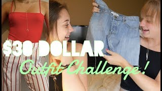 30 Dollar Outfit Challenge! | Outfits for $30?!