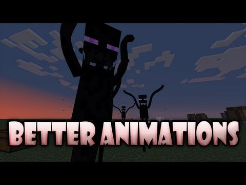 Minecraft Mods: Better Animations Collection - WACKY CREEPERS. WAVING ENDERMAN!