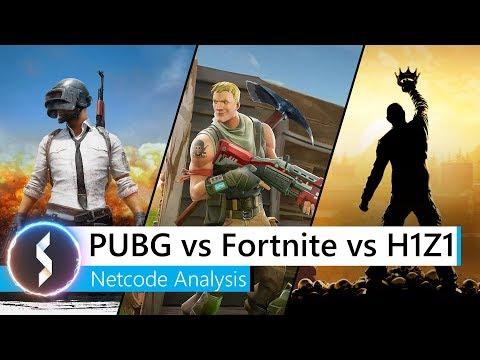 PUBG vs Fortnite vs H1Z1 Netcode Analysis