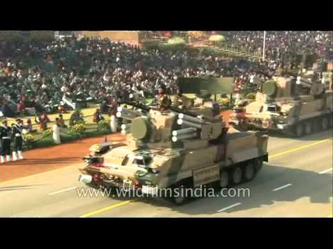 Tunguska M1 low level air defence systems at Republic Day Parade in New Delhi